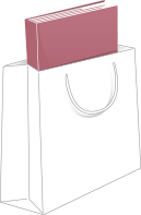 Imagem representanto um livro dentro de uma sacola