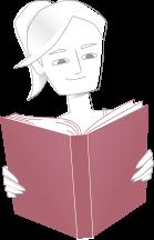 Imagem representanto uma menina lendo um livro
